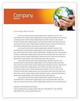 Templat Kop Surat Kecenderungan Dunia, 03964, Umum — PoweredTemplate.com