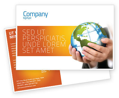General: World Tendencies Postcard Template #03964