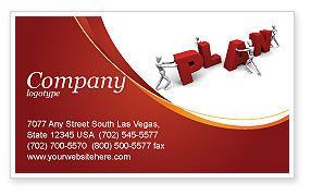 Consulting: Plan Business Card Template #03966