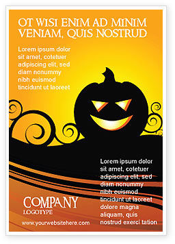 Halloween is Near Ad Template, 03967, Holiday/Special Occasion — PoweredTemplate.com