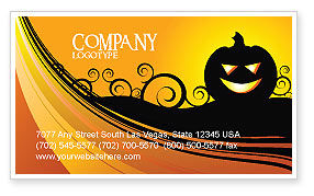 Holiday/Special Occasion: Halloween is Near Business Card Template #03967