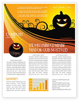 Holiday/Special Occasion: Halloween is Near Newsletter Template #03967