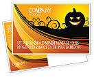 Holiday/Special Occasion: Halloween is Near Postcard Template #03967