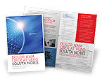 Abstract/Textures: Blue Sphere Brochure Template #03968
