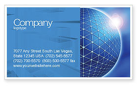 Abstract/Textures: Blue Sphere Business Card Template #03968