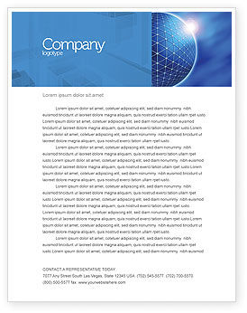 Abstract/Textures: Blue Sphere Letterhead Template #03968