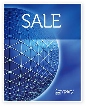 Abstract/Textures: Blue Sphere Sale Poster Template #03968