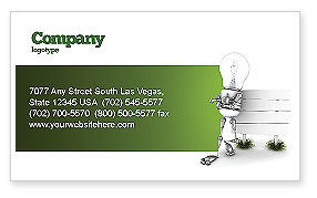 Idea Board Business Card Template, 03970, Consulting — PoweredTemplate.com