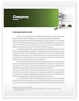 Idea Board Letterhead Template, 03970, Consulting — PoweredTemplate.com