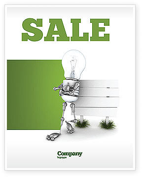 Idea Board Sale Poster Template, 03970, Consulting — PoweredTemplate.com