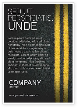 Cars/Transportation: Road Marking Ad Template #03971