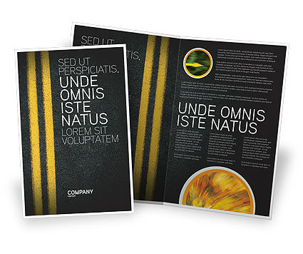 Road Marking Brochure Template, 03971, Cars/Transportation — PoweredTemplate.com