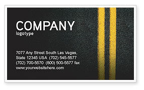 Road Marking Business Card Template, 03971, Cars/Transportation — PoweredTemplate.com