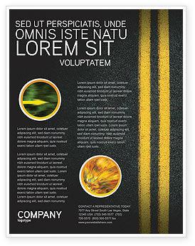 Road Marking Flyer Template, 03971, Cars/Transportation — PoweredTemplate.com