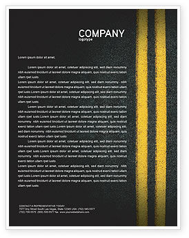 Road Marking Letterhead Template