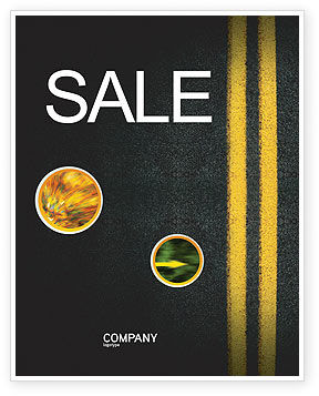 Road Marking Sale Poster Template, 03971, Cars/Transportation — PoweredTemplate.com