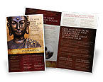 Religious/Spiritual: Buddha In Meditation Brochure Template #03973
