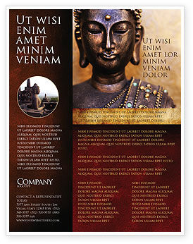 Religious/Spiritual: Buddha In Meditation Flyer Template #03973