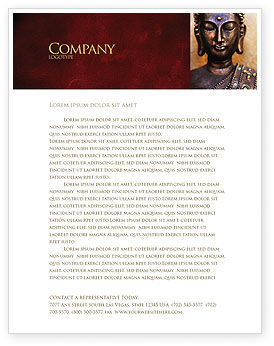 Buddha In Meditation Letterhead Template, 03973, Religious/Spiritual — PoweredTemplate.com