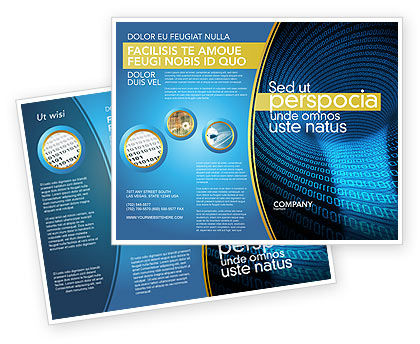 Technology, Science & Computers: Digital Black Hole Brochure Template #03978
