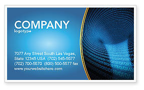 Technology, Science & Computers: Digital Black Hole Business Card Template #03978