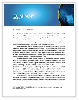 Technology, Science & Computers: Digital Black Hole Letterhead Template #03978