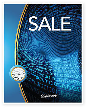 Technology, Science & Computers: Digital Black Hole Sale Poster Template #03978
