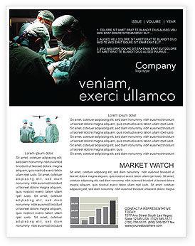 Major Surgery Newsletter Template, 03979, Medical — PoweredTemplate.com