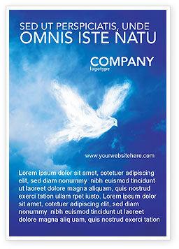 Religious/Spiritual: Peace Dove Ad Template #03984