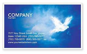 Religious/Spiritual: Peace Dove Business Card Template #03984