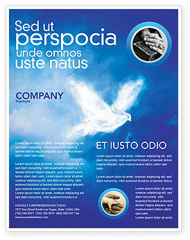 Religious/Spiritual: Peace Dove Flyer Template #03984