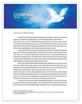 Peace Dove Letterhead Template, 03984, Religious/Spiritual — PoweredTemplate.com