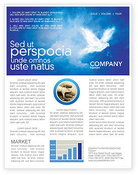 Peace Dove Newsletter Template, 03984, Religious/Spiritual — PoweredTemplate.com