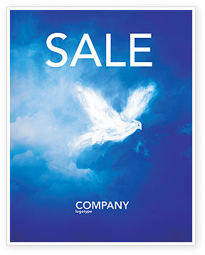 Religious/Spiritual: Peace Dove Sale Poster Template #03984