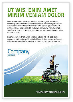 People: Handicapped Person Ad Template #03985