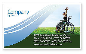 People: Handicapped Person Business Card Template #03985