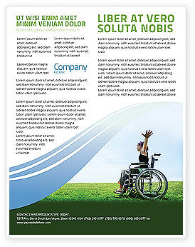 Handicapped Person Flyer Template, 03985, People — PoweredTemplate.com