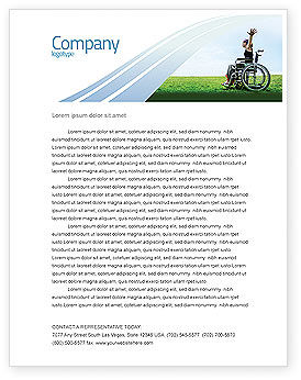 People: Handicapped Person Letterhead Template #03985