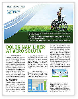Handicapped Person Newsletter Template, 03985, People — PoweredTemplate.com
