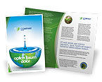 Nature & Environment: Blue Water Of A Green Planet Brochure Template #03986