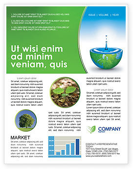 Nature & Environment: Blue Water Of A Green Planet Newsletter Template #03986