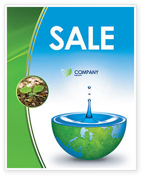 Blue Water Of A Green Planet Sale Poster Template