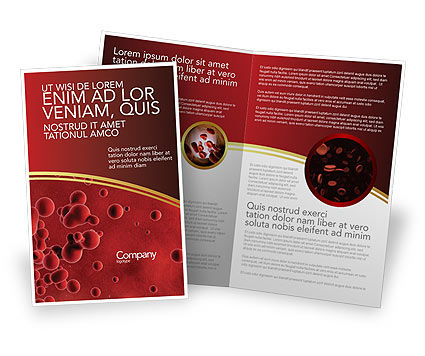 Medical: Blood Brochure Template #03987