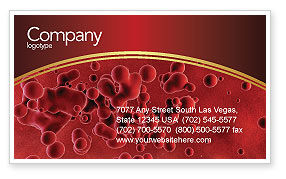 Blood Business Card Template
