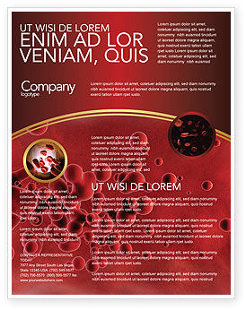 Blood Flyer Template, 03987, Medical — PoweredTemplate.com