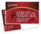 Medical: Blood Postcard Template #03987