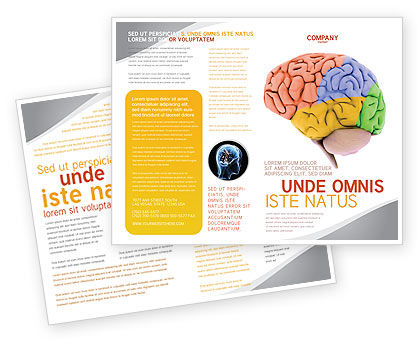 Cerebral Autoregulation Brochure Template, 03988, Medical — PoweredTemplate.com