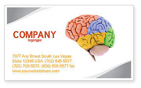 Medical: Cerebral Autoregulation Business Card Template #03988