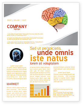 Cerebral Autoregulation Newsletter Template, 03988, Medical — PoweredTemplate.com