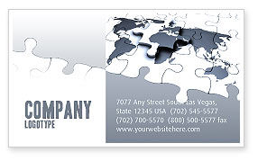 Global: Map Fragments Business Card Template #03989
